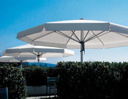 Parasol med indbygget varme